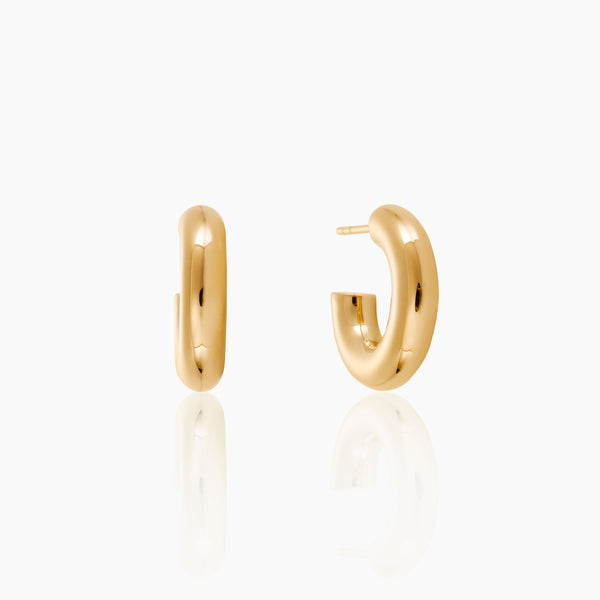 Mini Chunky Gold Hoops