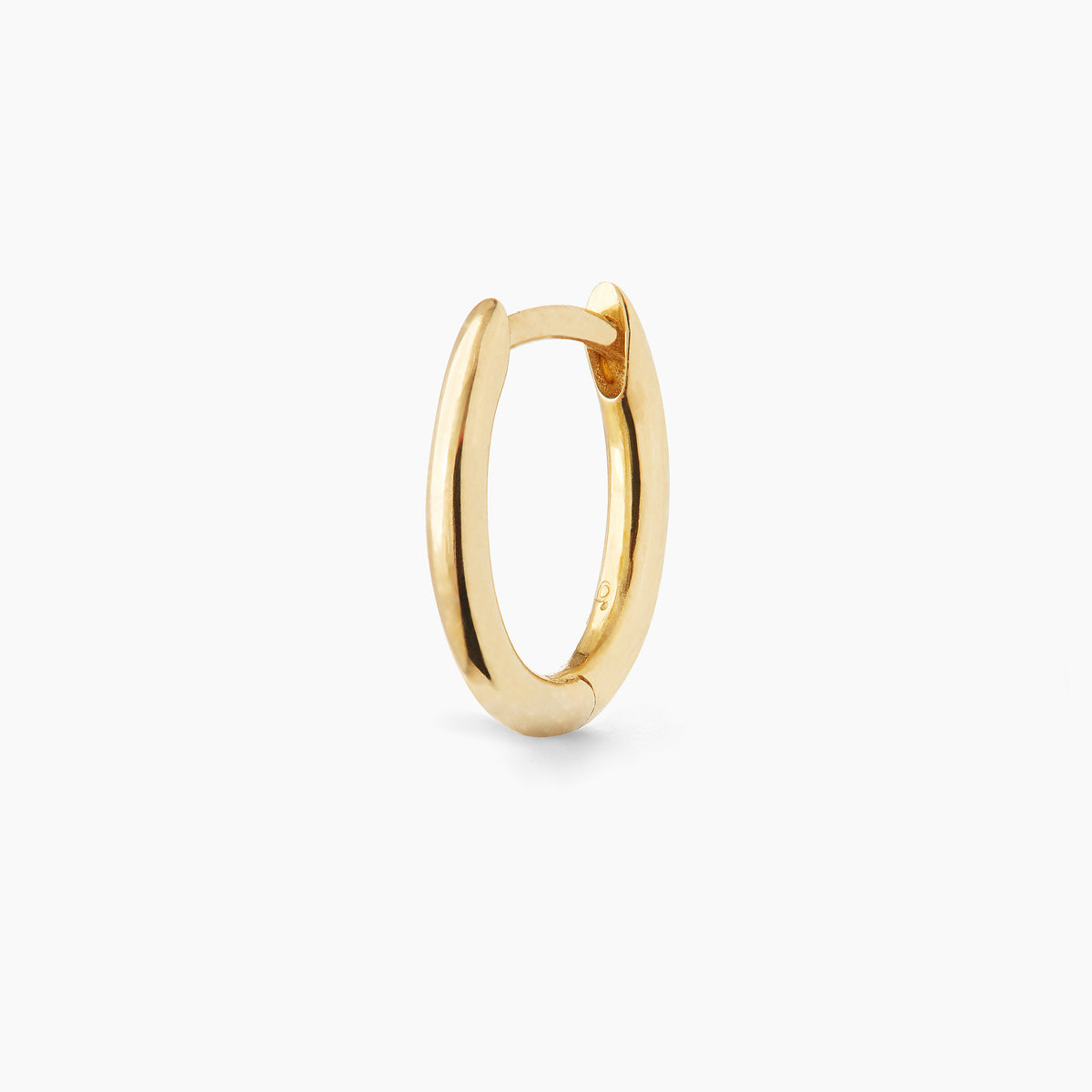 Mini Gold Oval Hoop