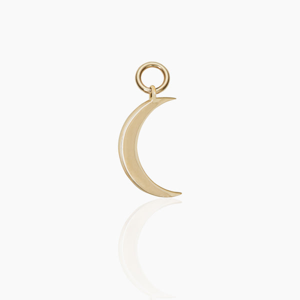 Gold Moon Hoop Charm
