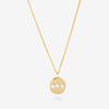 Solid Gold Curb Chain with Pearl Pendant