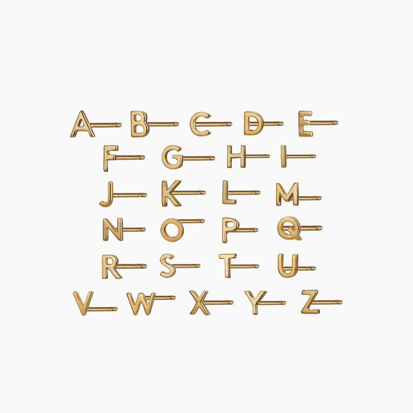 Gold Alphabet Stud