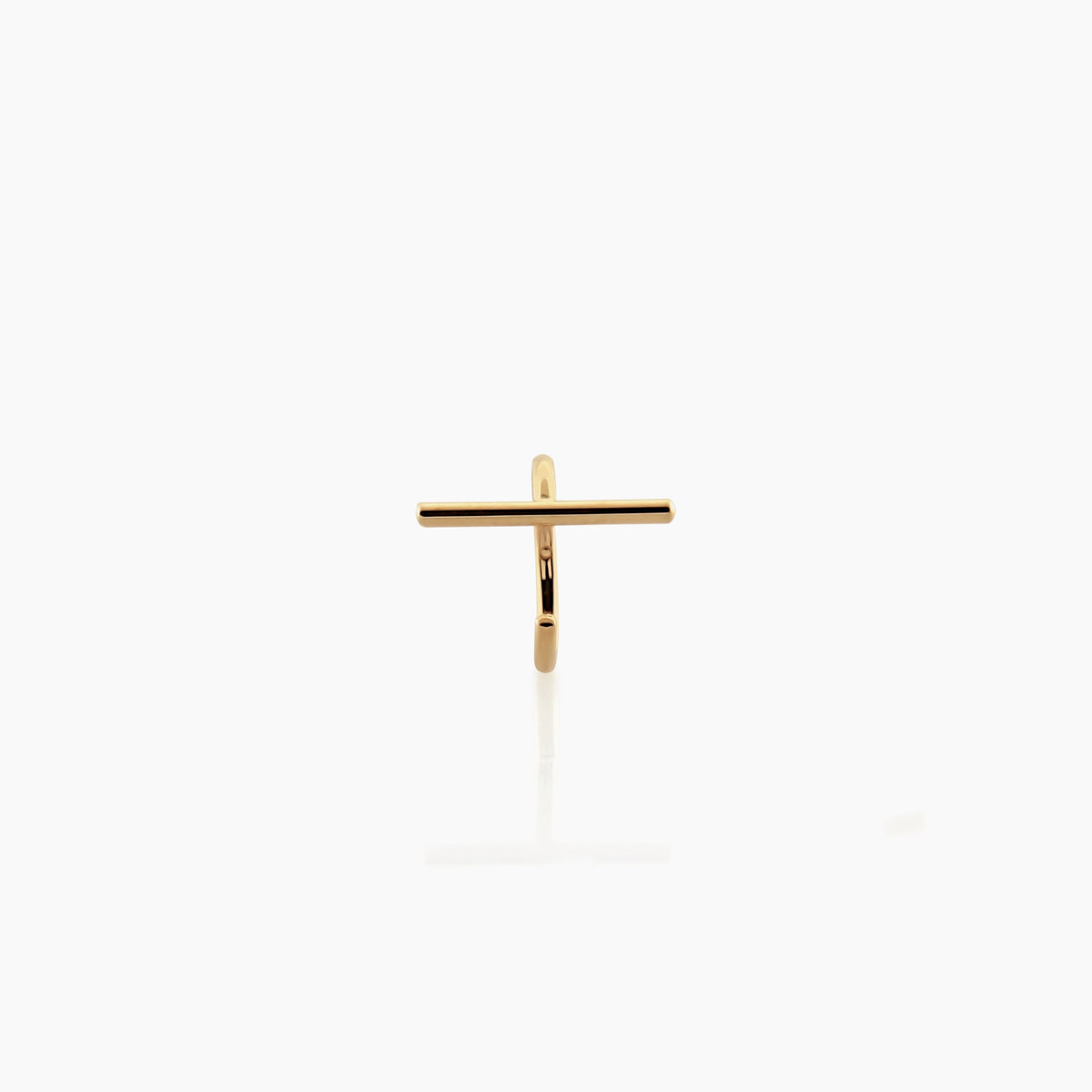 Yellow Gold Tiny Staple Stud