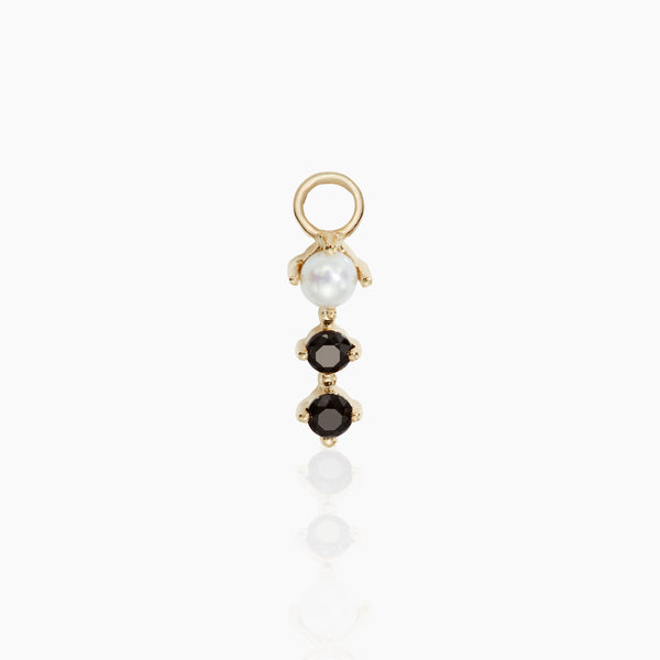 Pearl and Black Onyx Charm