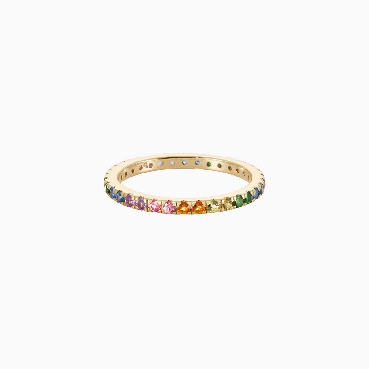 Full Eternity Rainbow Ring