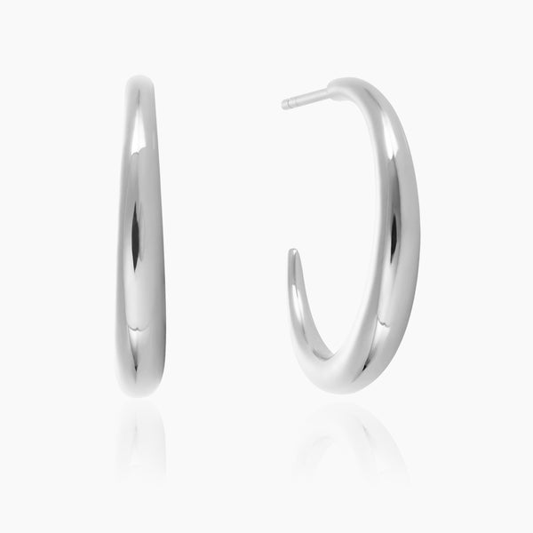 Silver Graduated Hoops