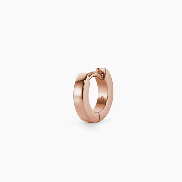 Small Rose Gold Huggie Hoop