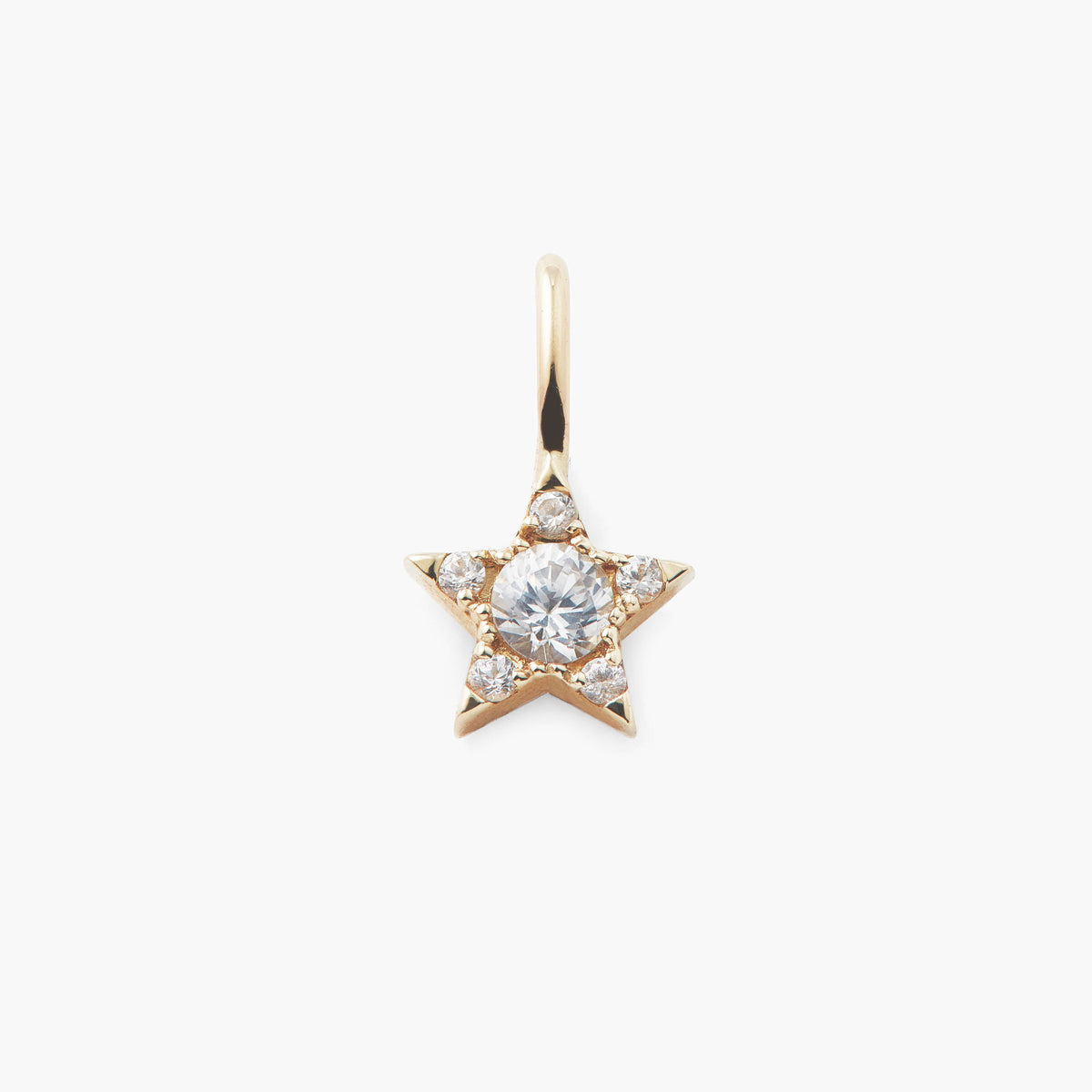 Mini White Topaz Star Pendant