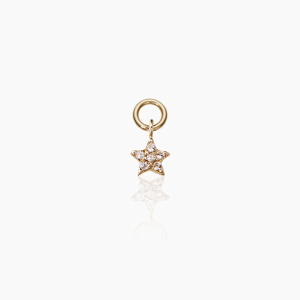 Tiny Star Hoop Charm