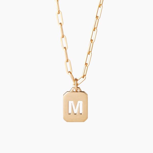Letter Tag Necklace