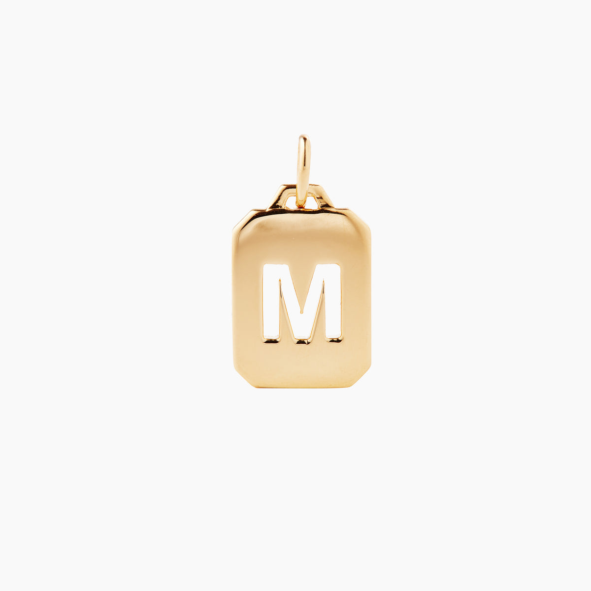 Gold Alphabet Tag Pendant