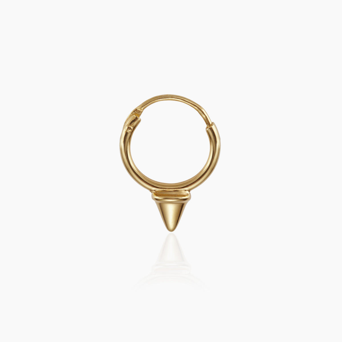 Tiny Spike Gold Hoop