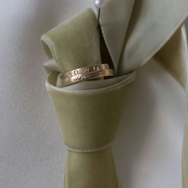 Gold Band Ring. Complimentary Hand Engraving.