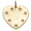 Solid Gold White Topaz Heart Pendant