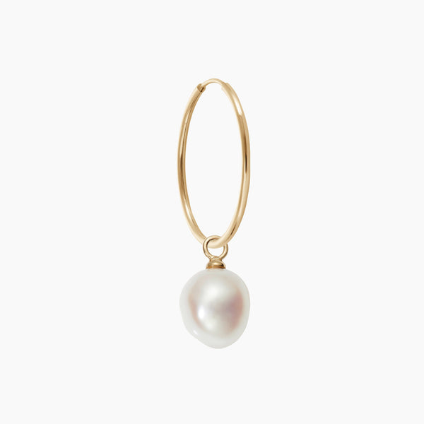 Endless Hoop & Simple Pearl