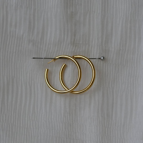 Large Gold Chunky Hoops