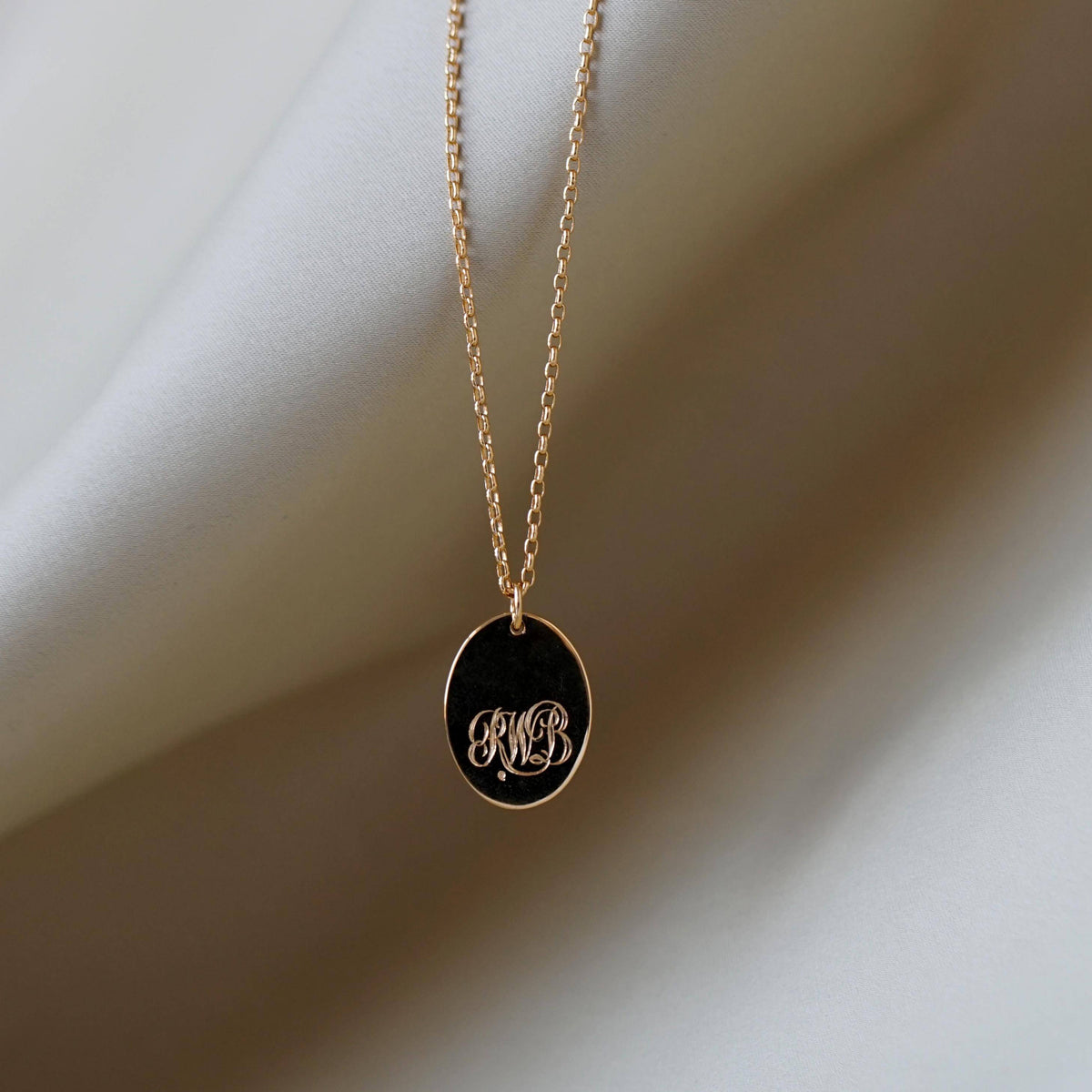 Men's Vermeil Oval Pendant