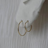 18mm Solid Gold Endless Hoop