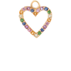 Open Rainbow Heart Charm