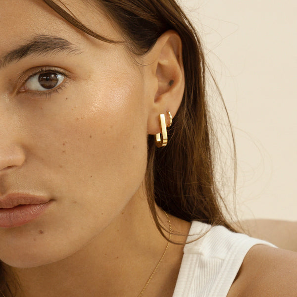 Chunky Square Hoops