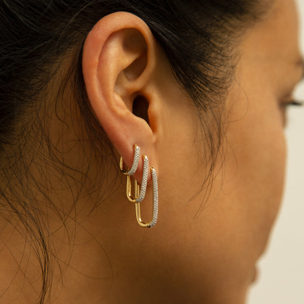 Alex Eagle X Otiumberg Small Gold and White Topaz Earring