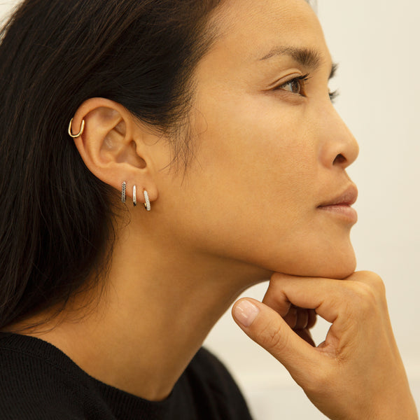 Alex Eagle X Otiumberg Small Silver Earring