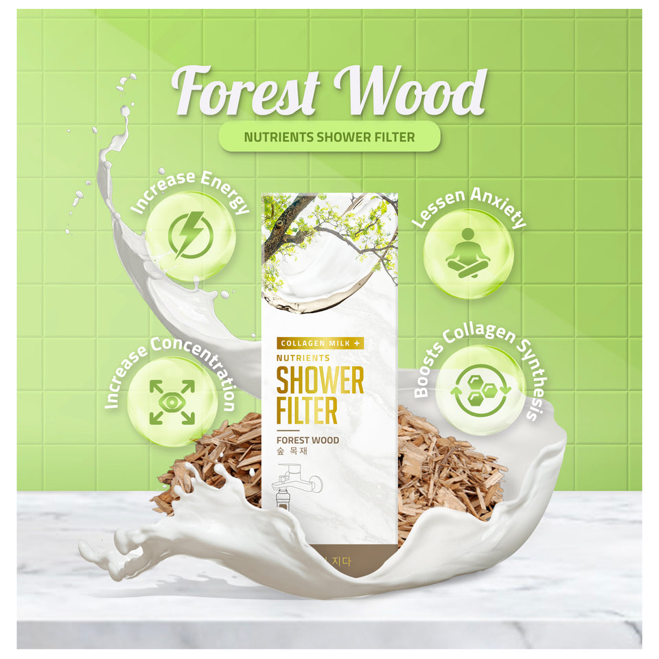 Forest Wood Collagen Milk+ Nutrients Shower Filter