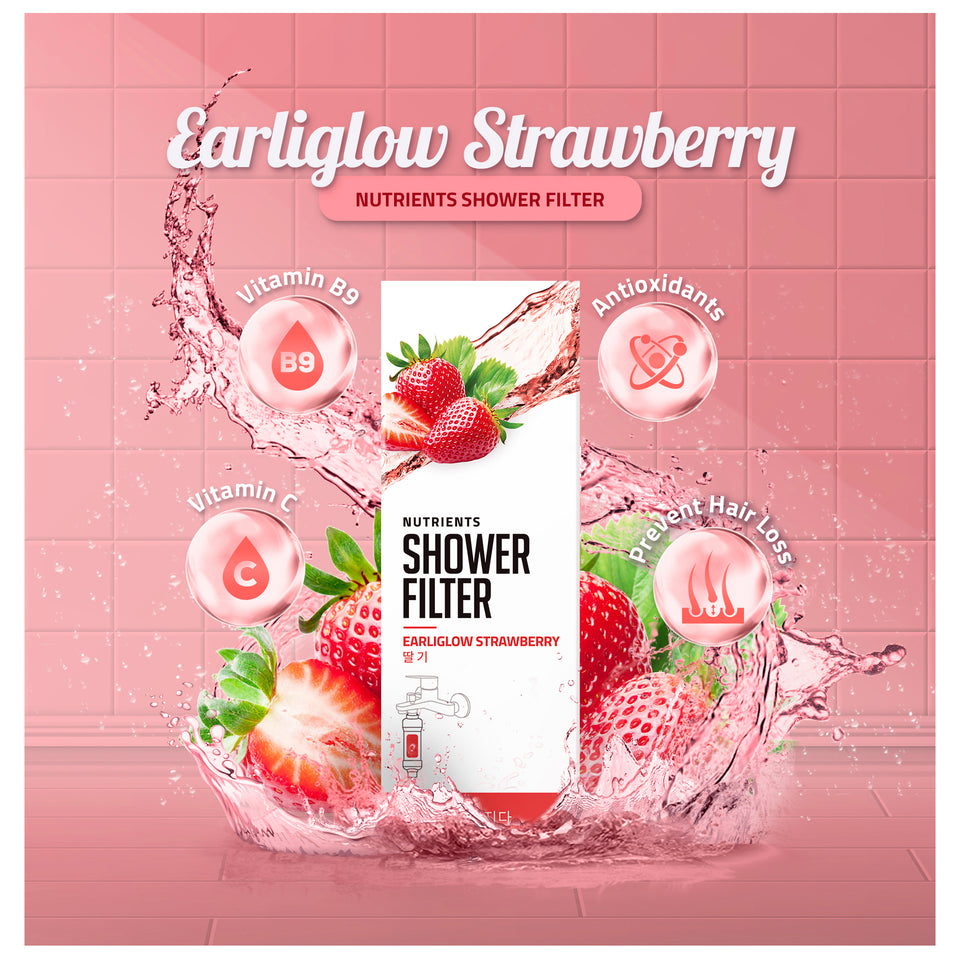 Earliglow Strawberry Nutrients Shower Filter