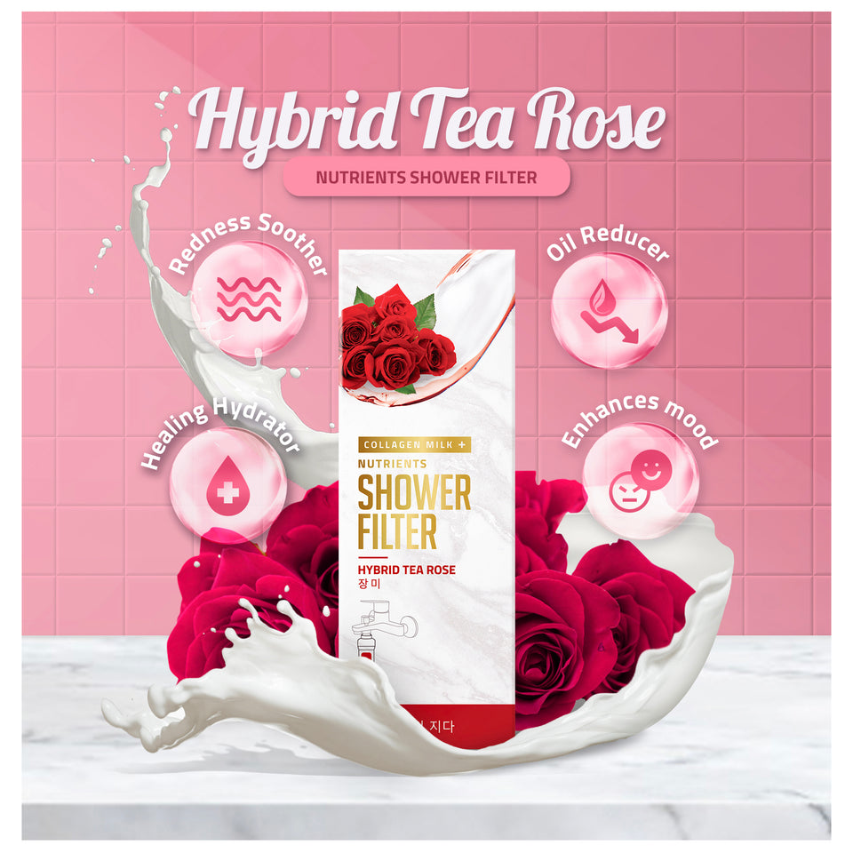 Hybrid Tea Rose Collagen Milk+ Nutrients Shower Filter