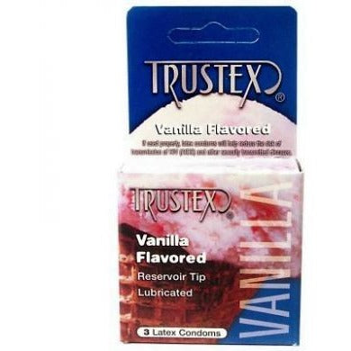 Trustex Vanilla Lubricated Condom - 3 Pack