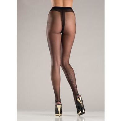 Sparkle Explosion Pantyhose  - Black - One Size