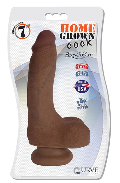"7"" Home Grown Cock - Chocolate"