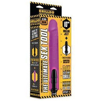"10"" Drilldo Jelly & Drilldo Bit Set - Purple"