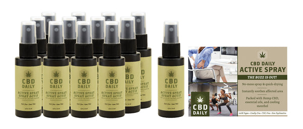 Hemp Daily Active Spray Display 12 Pc With Tester