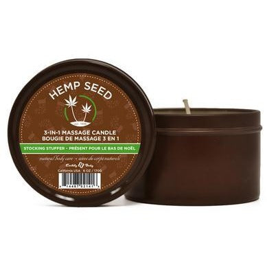 3 in 1 Stocking Stuffer Candle with Hemp - 6 Oz.