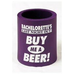 "Bachelorette ""Buy Me a Beer"" Foam Can Cooler"