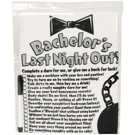 Bachelor's Last Night Out T-Shirt And Pen
