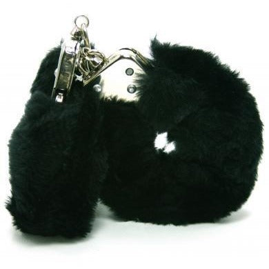 Plush Love Cuffs - Black