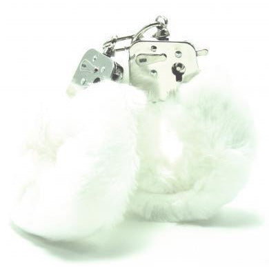 Plush Love Cuffs - White