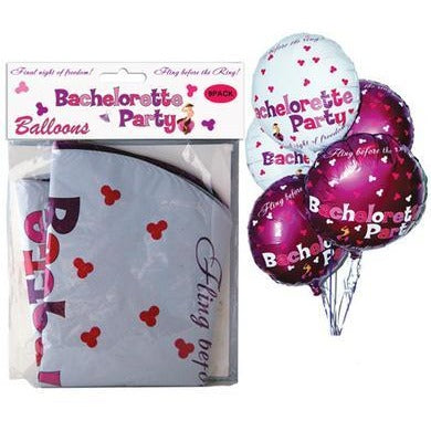 Bachelorette Party Foil Balloons - 9 Pack Assorted