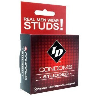 ID Studded Condoms - 3 Pack