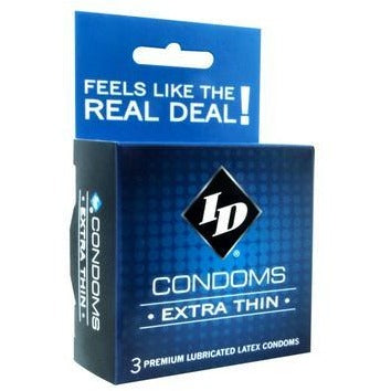 ID Extra Thin Condom - 3 Pack