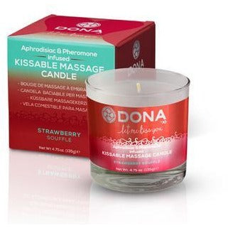 Dona Kissable Massage Candle  - Strawberry Souffle - 4.75 oz.