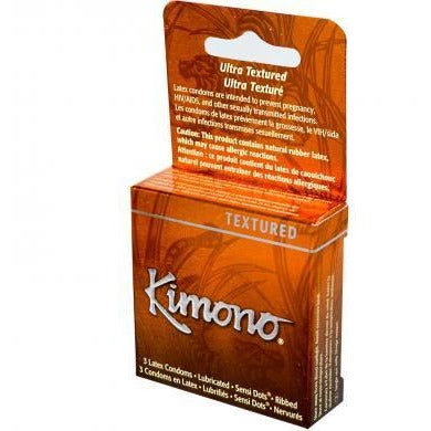 Kimono Sensation Textured Condoms - 3 Pack