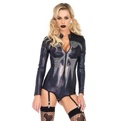 Iridescent Skull Bodysuit - Medium