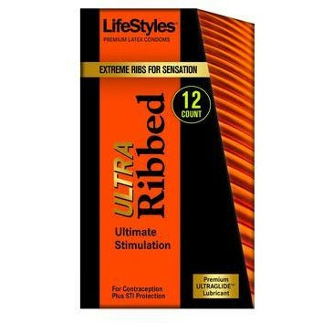 Lifestyles Ultra Ribbed - 12 Pack