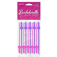 Bachelorette Party Favors Mini Cock-Tails Straws - 10 Pack