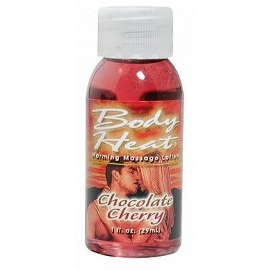 Body Heat Warming Massage Lotion - 1 Fl. Oz. -  Chocolate Cherry