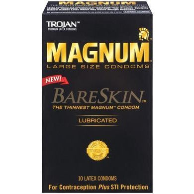 Trojan Magnum Bareskin Large Size Condoms - 10 Pack