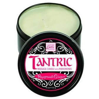 Tantric Soy Massage Candle With Pheromones - Pomegranate