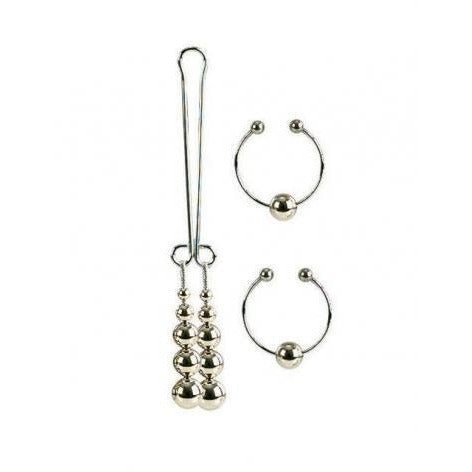 Nipple And Clitoral Non-Piercing Body Jewelry - Silver